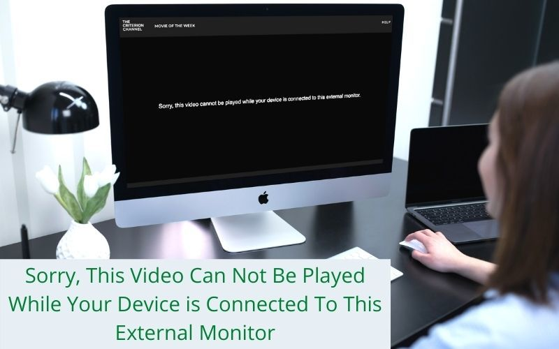 while your device is connected to this external monitor
