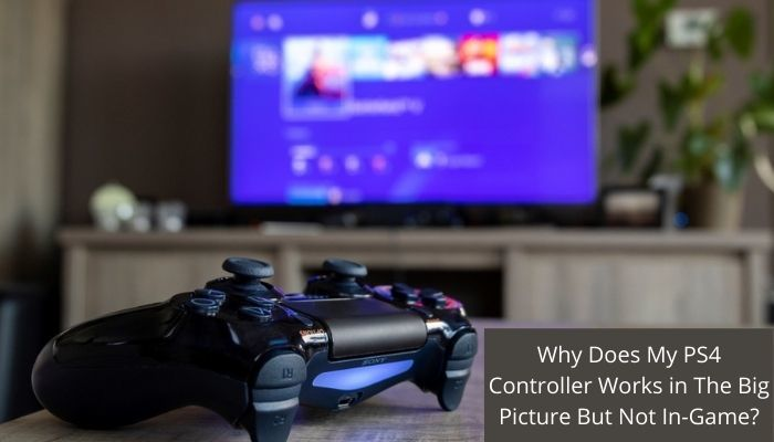 PS4 Controller Works in The Big Picture But Not In-Game